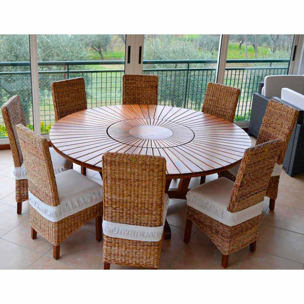 tabla verdadera mesa redonda al aire libre