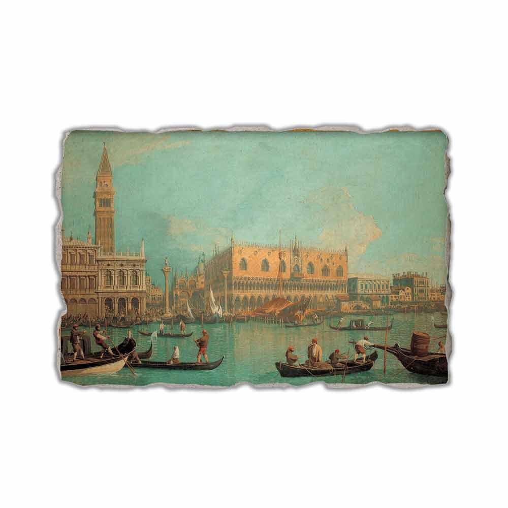 Fresco Canaletto,Vista del Palacio Ducal de Venecia