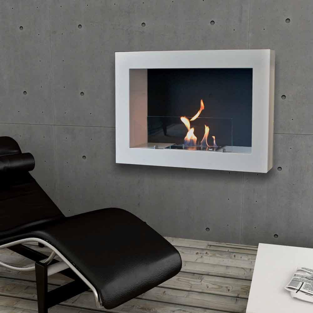 Biochimenea de pared de dise o moderno modelo blake - Biochimenea de pared ...