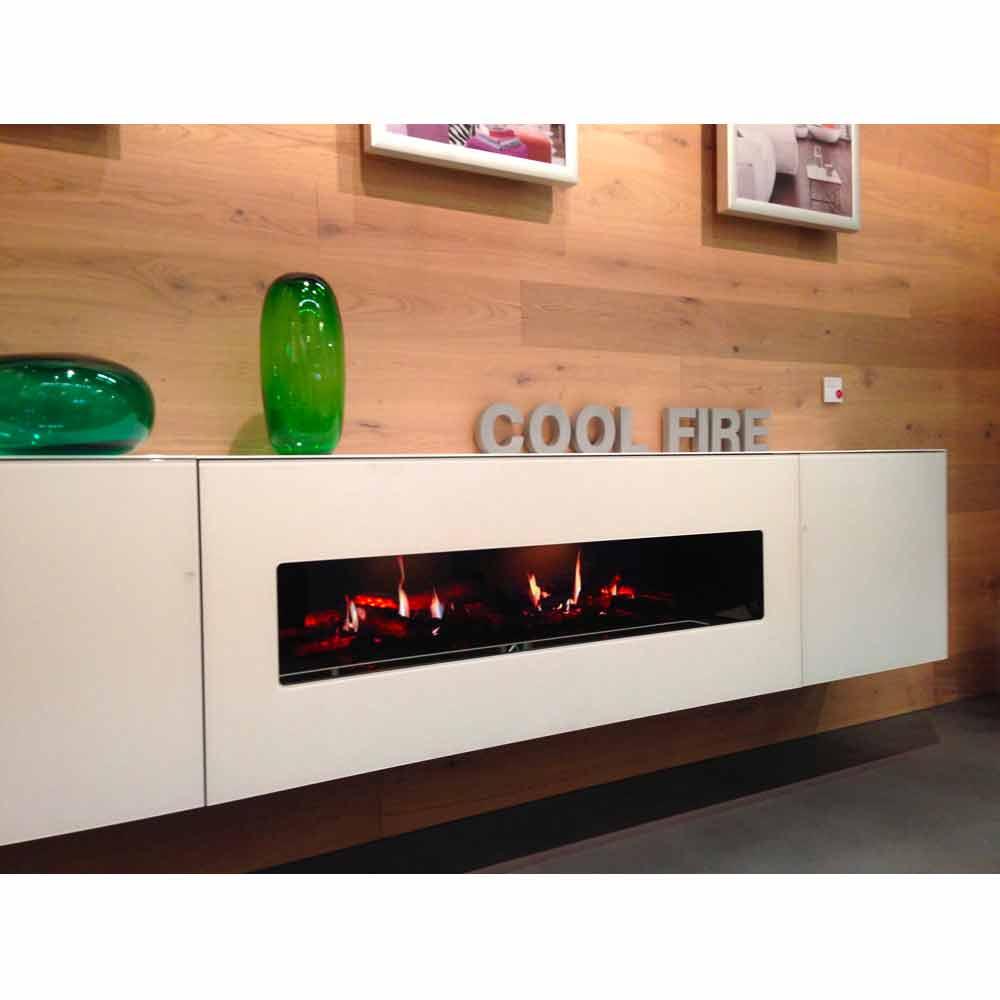 Chimenea el ctrica pared con pantalla y led edimburgo double for Chimenea electrica con mueble