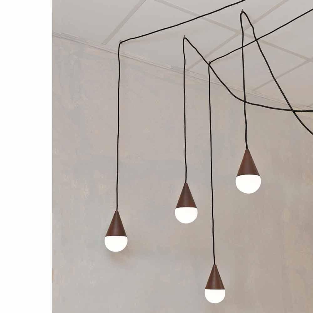 lmpara de techo moderna con luces color acero corten drop with lamparas colgantes techo