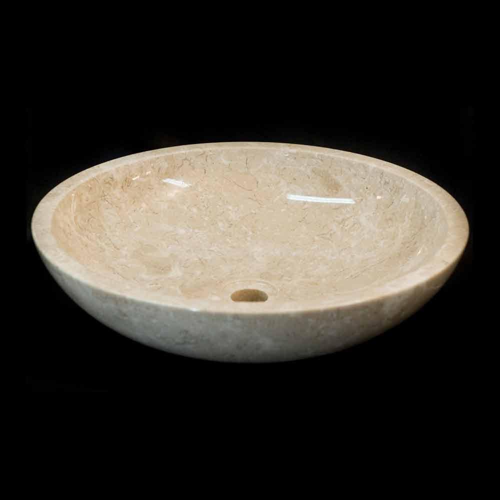 Lavabo sobre encimera blanco de piedra natural modelo ziva - Encimeras de piedra natural ...