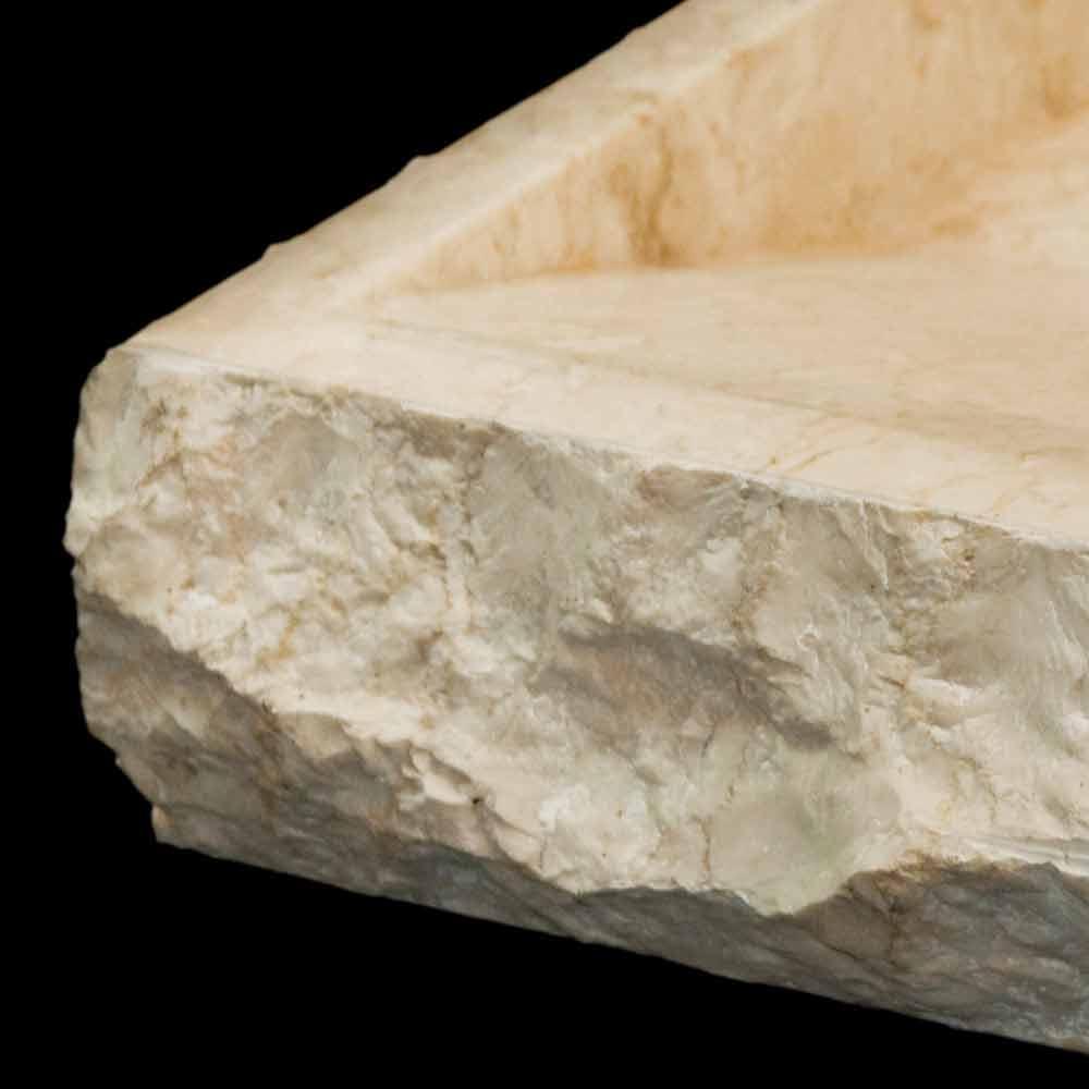 Lavabo sobre encimera de piedra natural blanca modelo sam - Lavabos de piedra natural ...