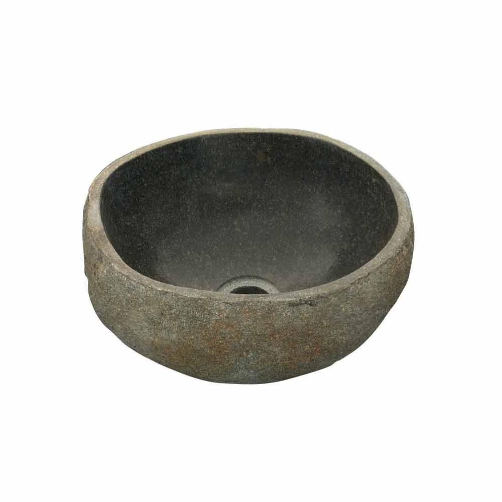 Elegante lavabo sobre encimera de piedra de r o agra - Encimera de piedra ...