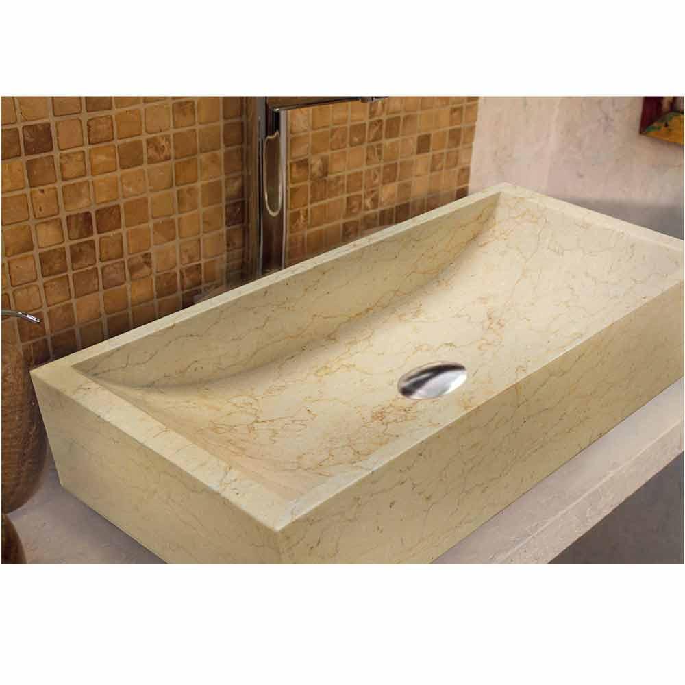 Original lavabo sobre encimera de piedra natural giacarta - Encimeras de piedra natural ...