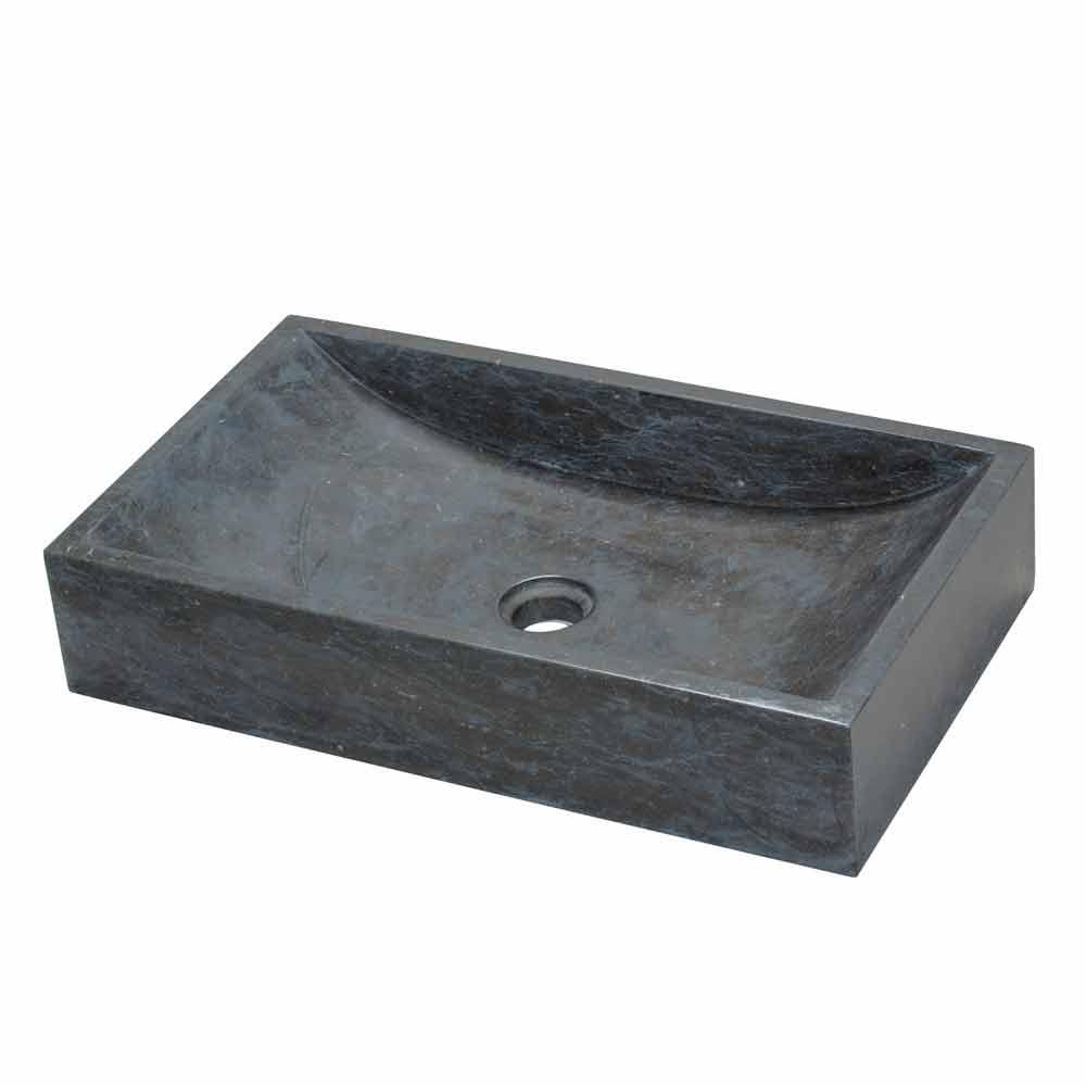 original lavabo sobre encimera de m rmol negro satun. Black Bedroom Furniture Sets. Home Design Ideas