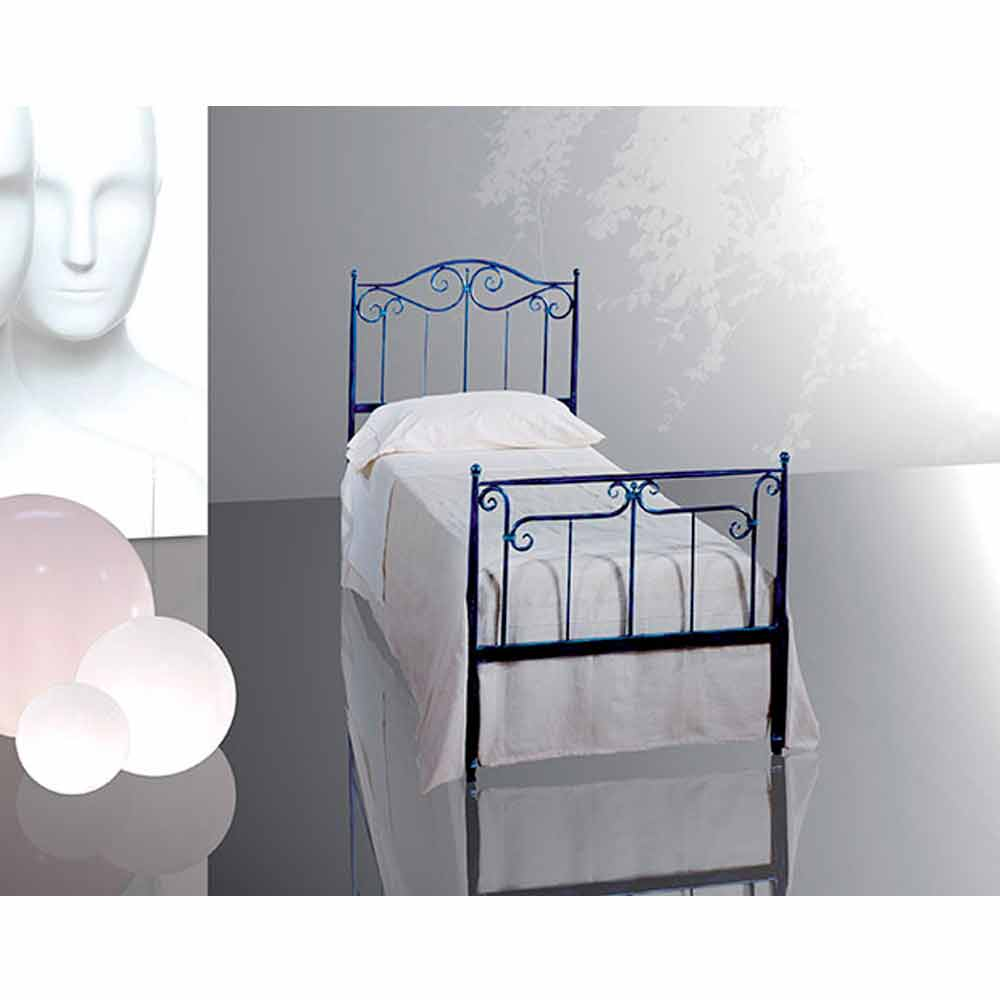 Muebles italianos cama individual en hierro forjado auriga for Cama hierro
