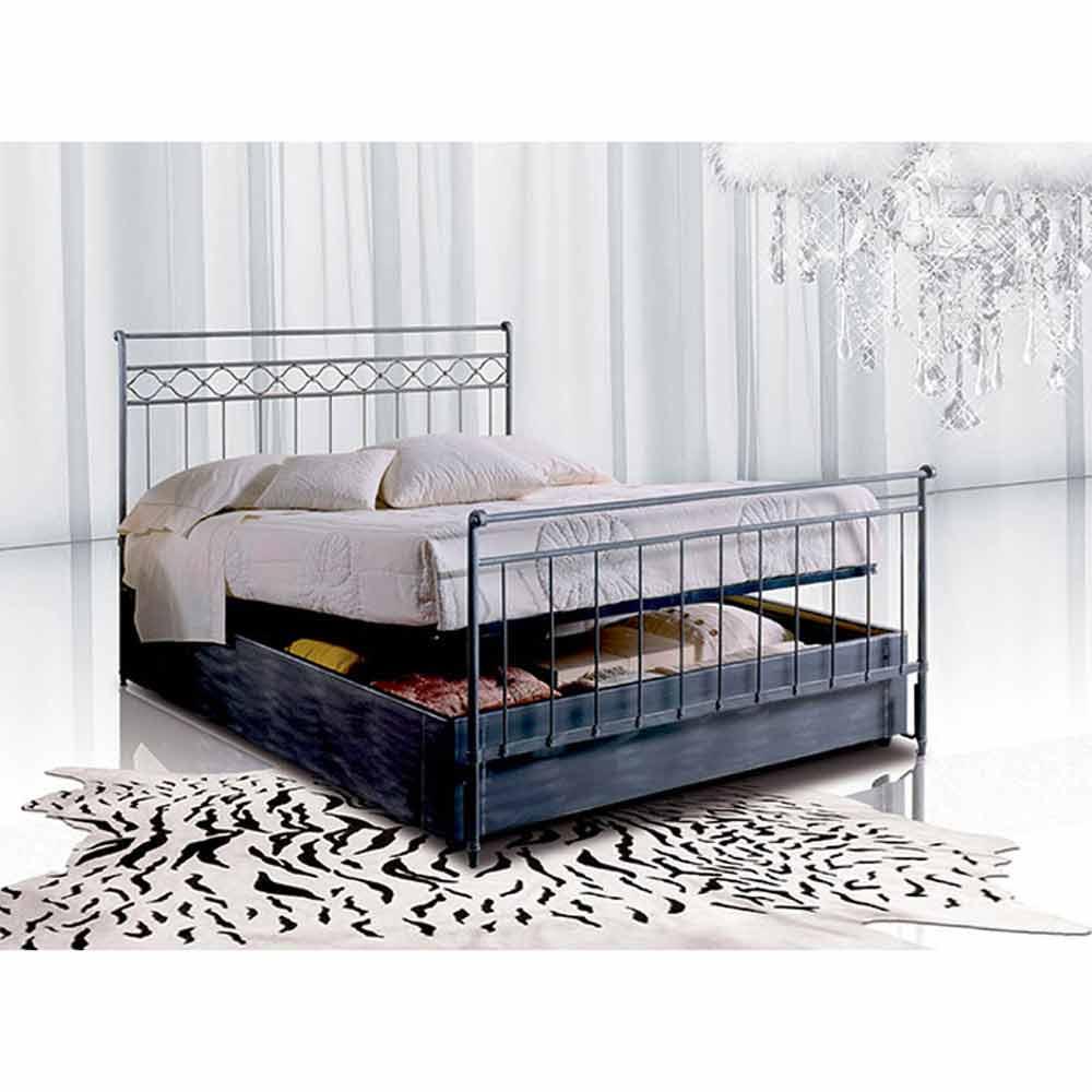 Muebles italianos cama individual en hierro forjado hefesto for Cama hierro