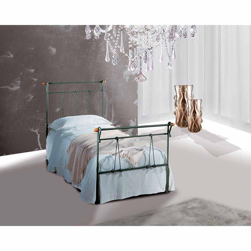 Muebles italianos cama individual en hierro forjado perseo for Cama hierro
