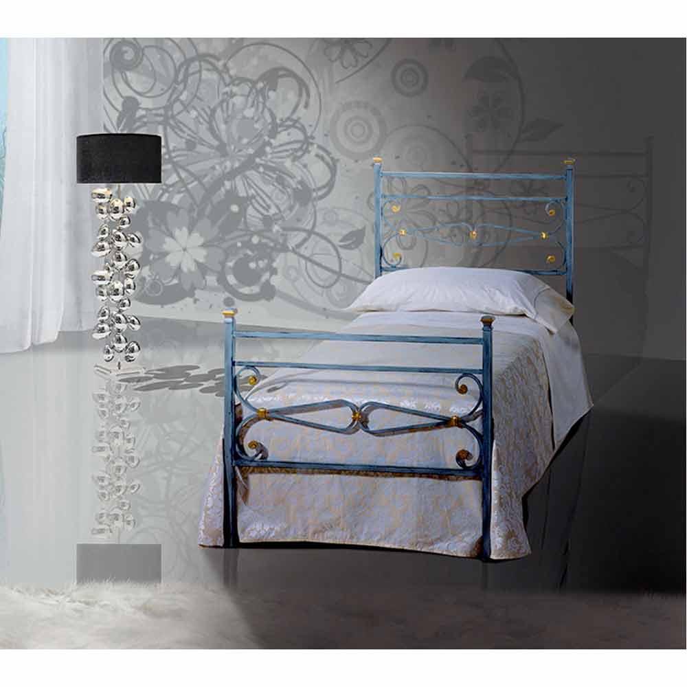 Muebles italianos cama individual en hierro forjado topaz for Cama hierro