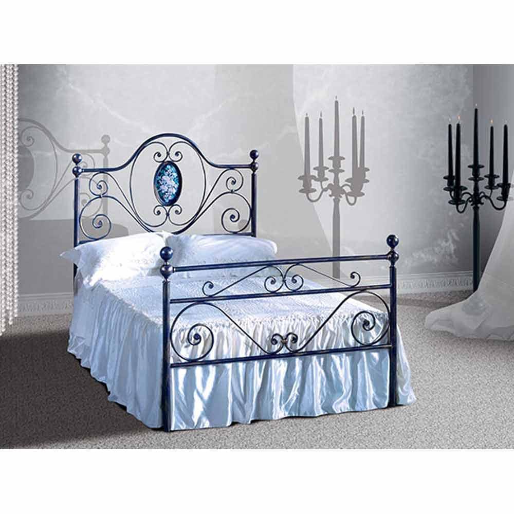Una cama de plaza y media hierro forjado altea for Cama de una plaza