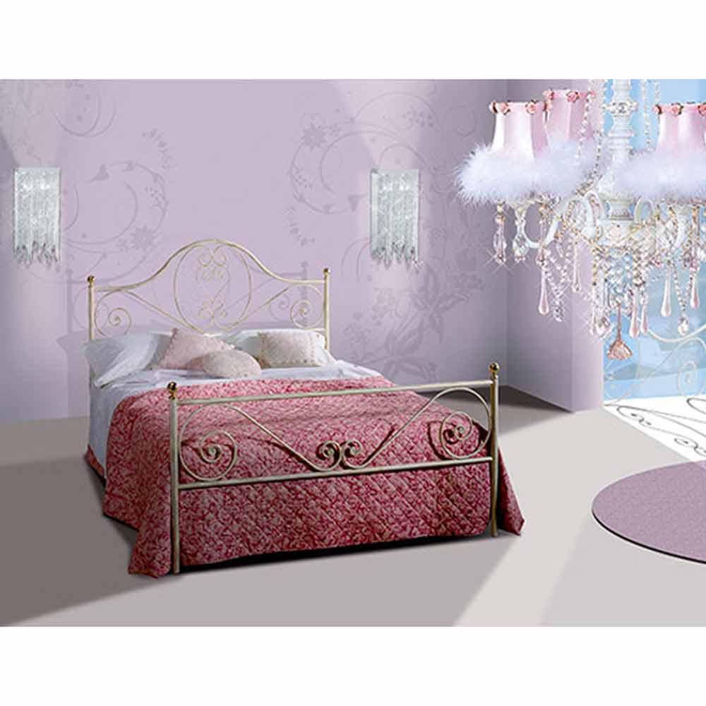 Una cama de plaza y media hierro forjado gea for Cama de plaza y media