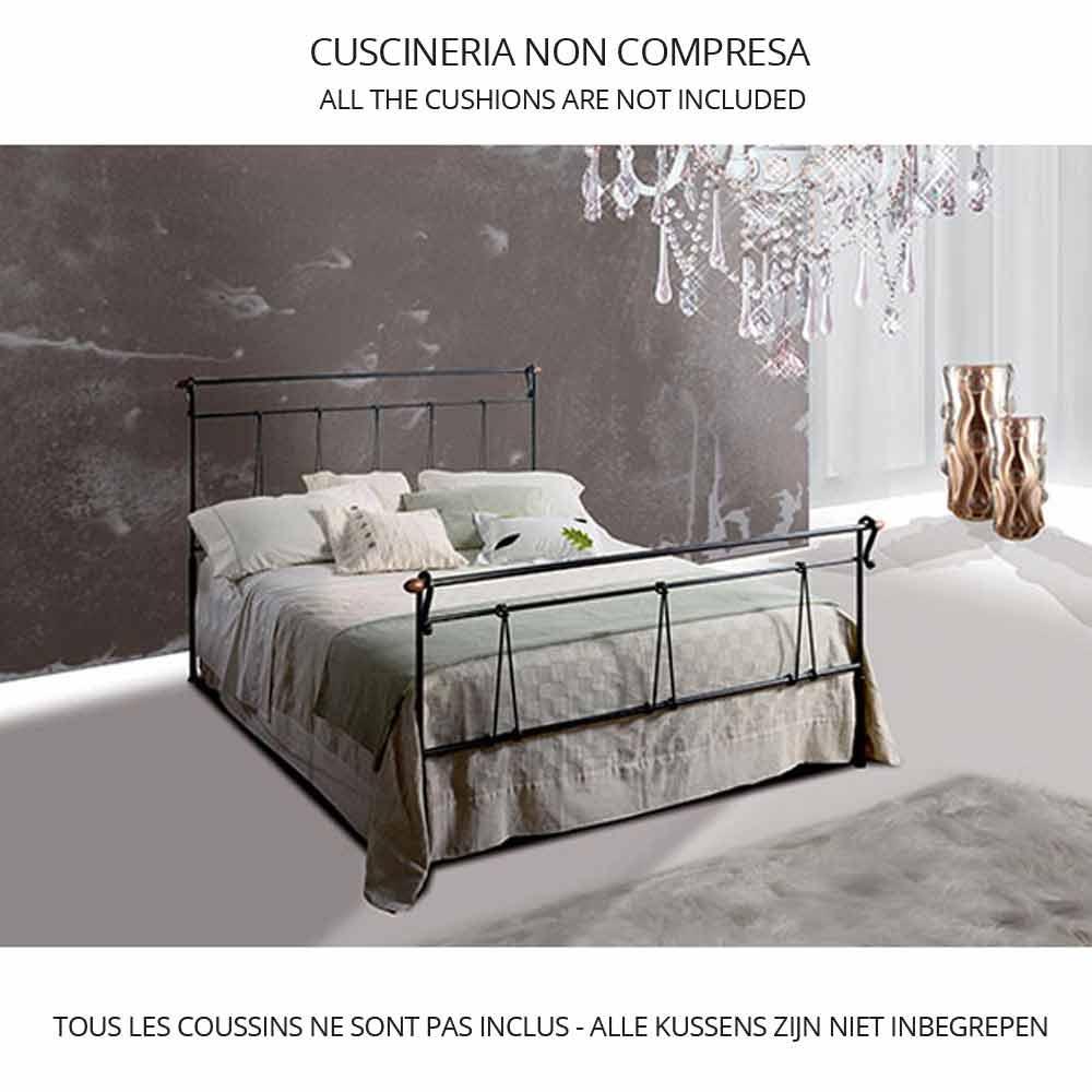 Una cama de plaza y media hierro forjado perseo for Cama de plaza y media