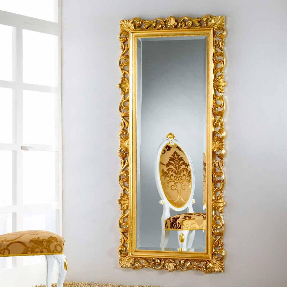 Piso de espejo dise o de la pared con acabado en pan de oro mata - Espejos con diseno ...