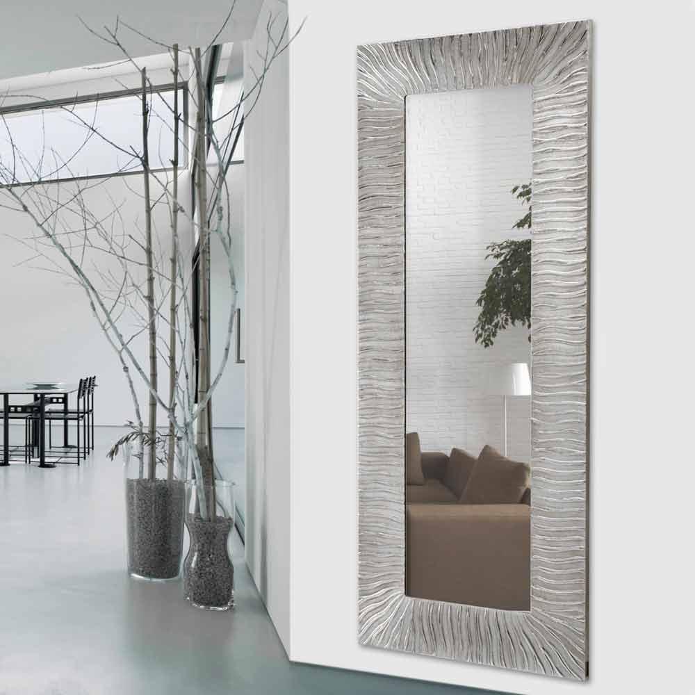 espejo de diseo de pared onde de viadurini decor realizado en italia