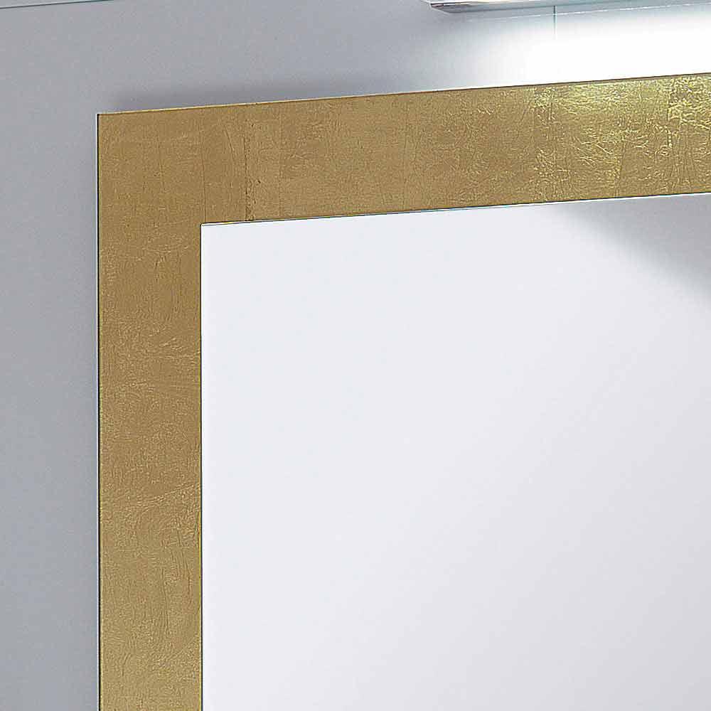Baño marco de cristal del espejo decorado con pan de oro Pascal