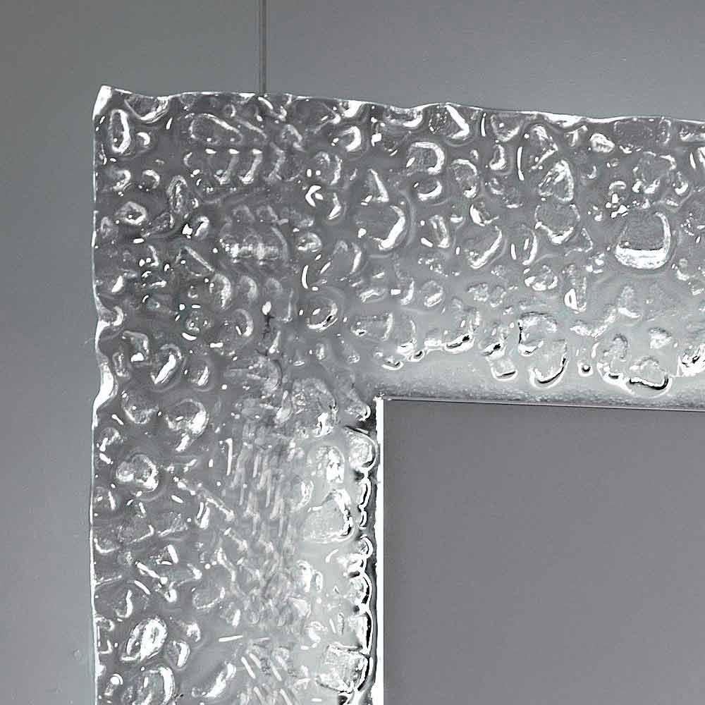 Espejo del baño moderno con marco de vidrio decorativo y luces LED Tara