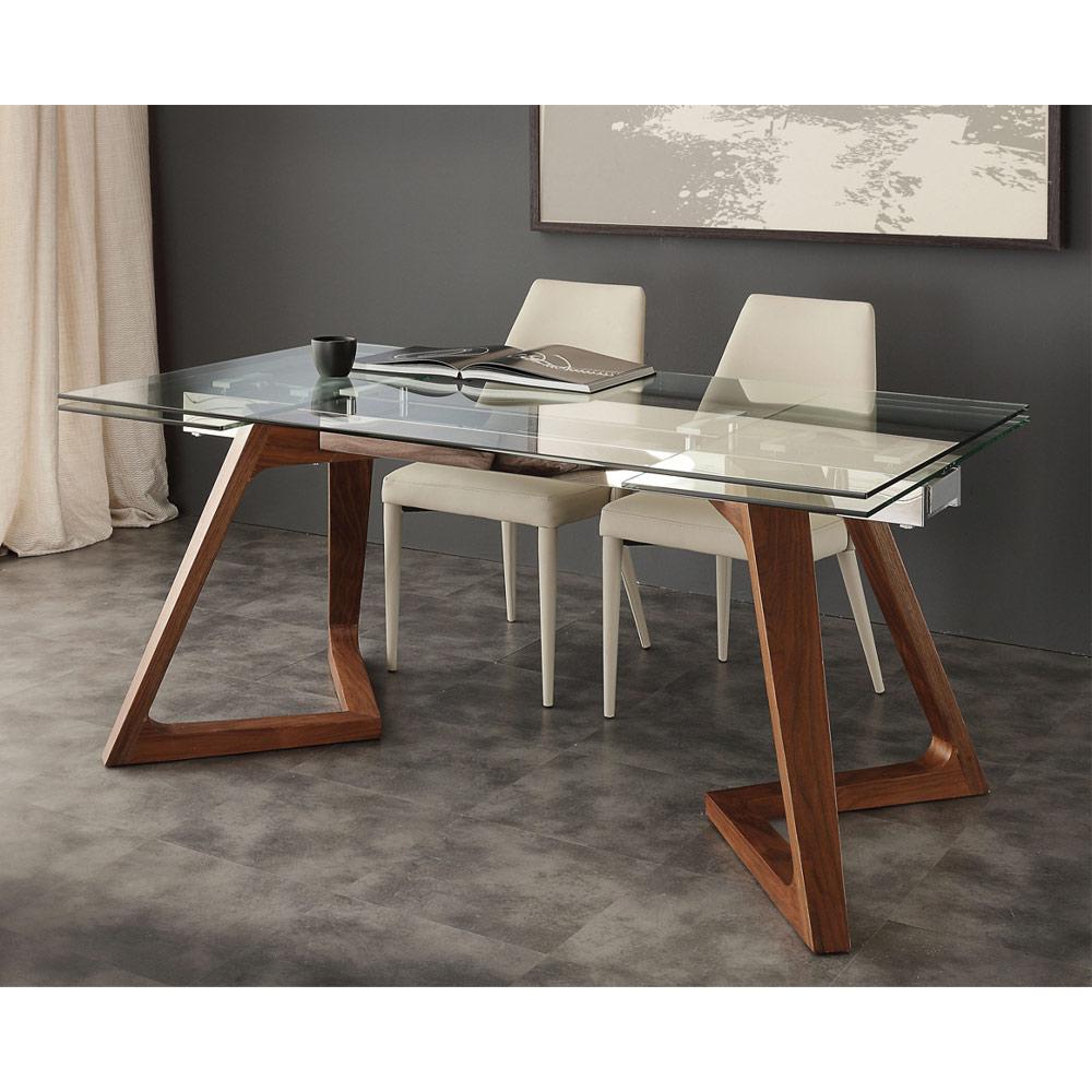 Mesa extensible de dise o con tablero de vidrio templado iside for Mesa extensible diseno