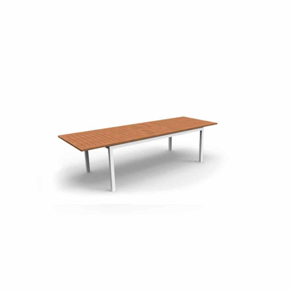 Mesa de comedor extensible de jard n de madera de teca for Mesa de jardin extensible