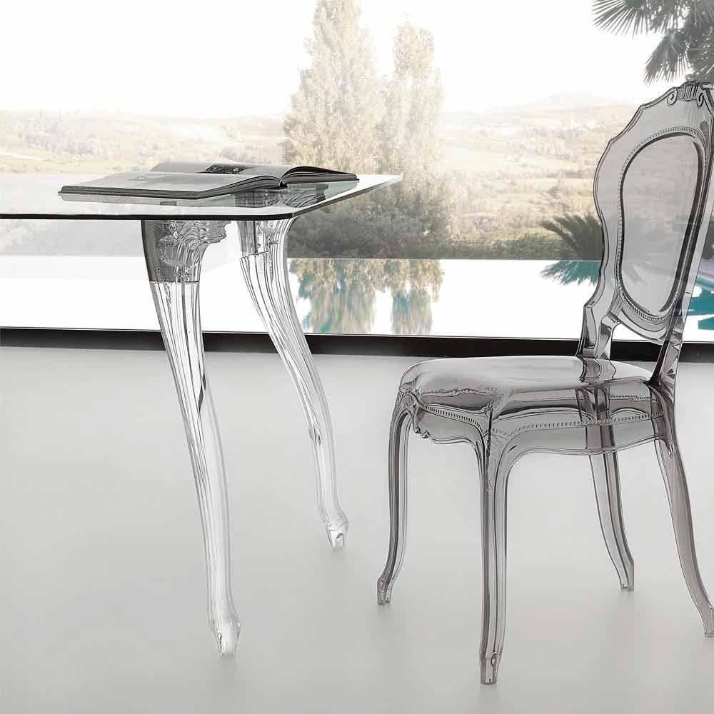 Mesa de comedor de dise o con tablero de vidrio templado jinny - Mesas de comedor de cristal de diseno ...
