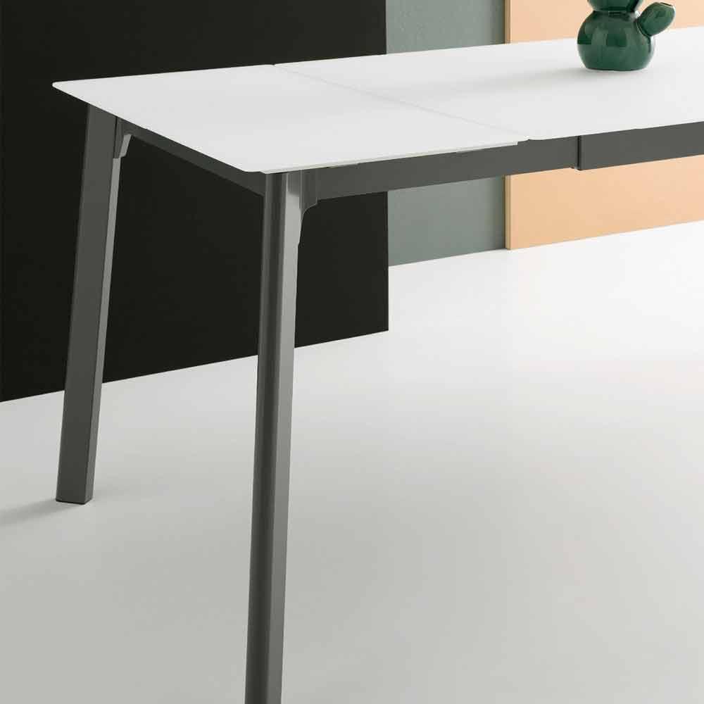 Mesa de comedor extensible moderna, hecha en Italia - Sellia
