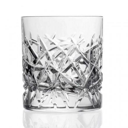 Vasos Vintage 12 Dof para Diseño de Agua o Whisky en Cristal - Titanio