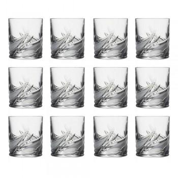 12 vasos de whisky de cristal bajo con vaso antiguo doble - Adviento