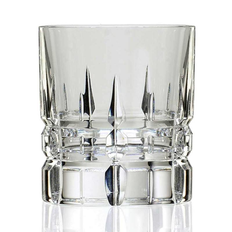 12 vasos de whisky Basso de vaso doble antiguo de cristal - Fiucco