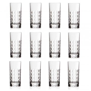 12 Vasos Highball para Refrescos o Copas Largas en Eco Crystal - Titanioball