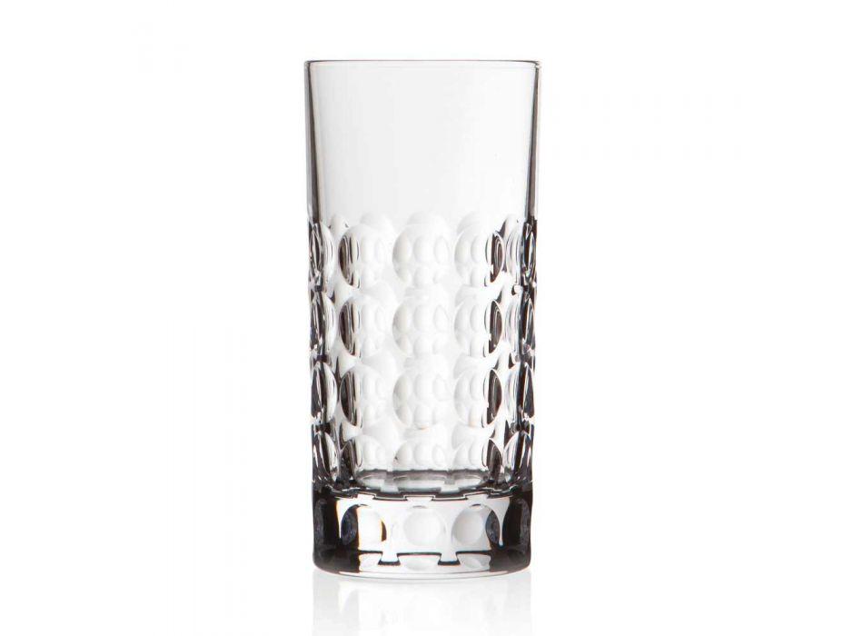 12 Vasos Highball para Refrescos o Copas Largas en Eco Crystal - Titanioball