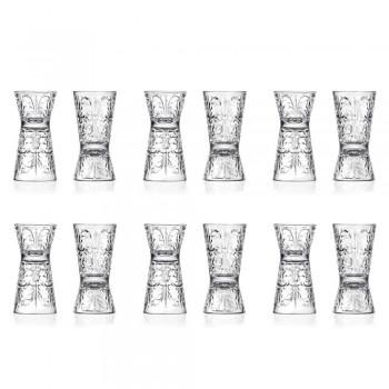 12 Jigger de cristal ecológico con decoración de lujo - Destiny