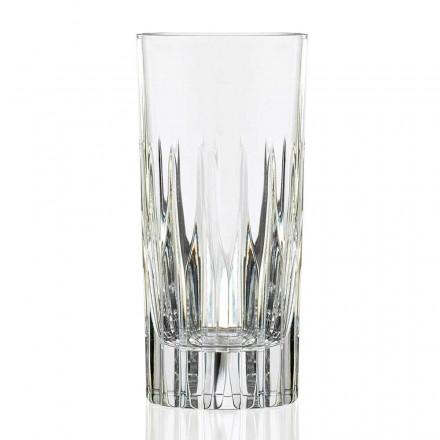 12 Vasos altos largos para beber en cristal ecológico - Voglia