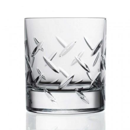 12 Vasos para Whisky o Agua en Eco Crystal con Preciosas Decoraciones - Arritmia