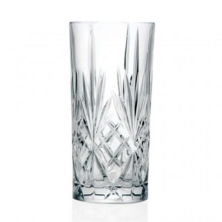12 Vasos, Vaso Alto, Highball para Cóctel en Eco Crystal - Cantabile