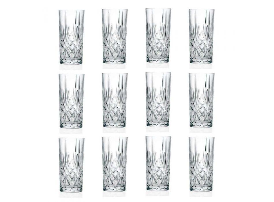 12 Vasos Tumbler Alto Highball para Cóctel en Eco Crystal - Cantabile