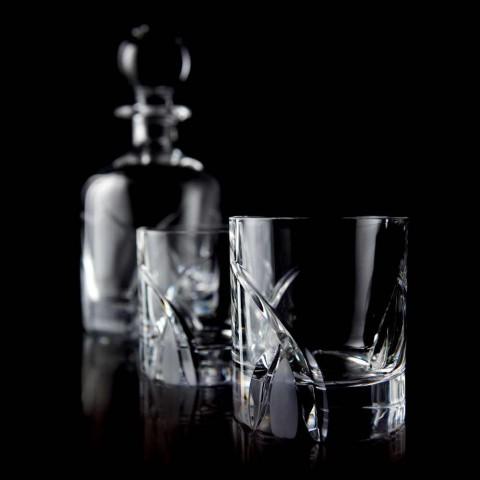 12 vasos de vaso bajo en diseño de lujo Eco Crystal - Montecristo