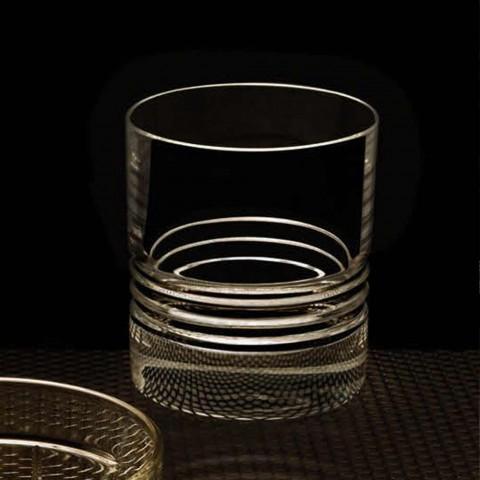 12 vasos de whisky de cristal pasados de moda dobles con vaso - Arritmia