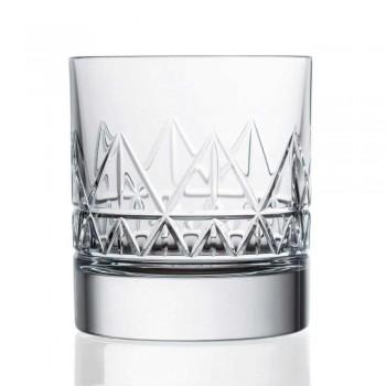 Diseño moderno de lujo de 12 vasos de whisky o agua en cristal - Arritmia