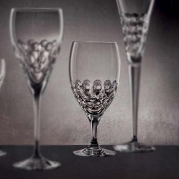 12 vasos de cerveza en diseño de lujo decorado con cristal ecológico - Titanioball