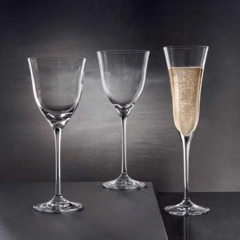 12 vasos de flauta en cristal de lujo ecológico diseño minimalista - liso
