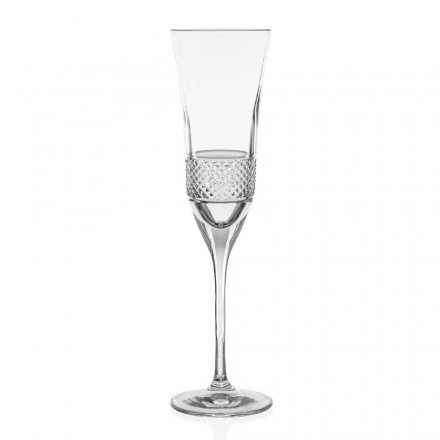 12 copas de champán ecológicas de cristal, decoradas a mano - Milito