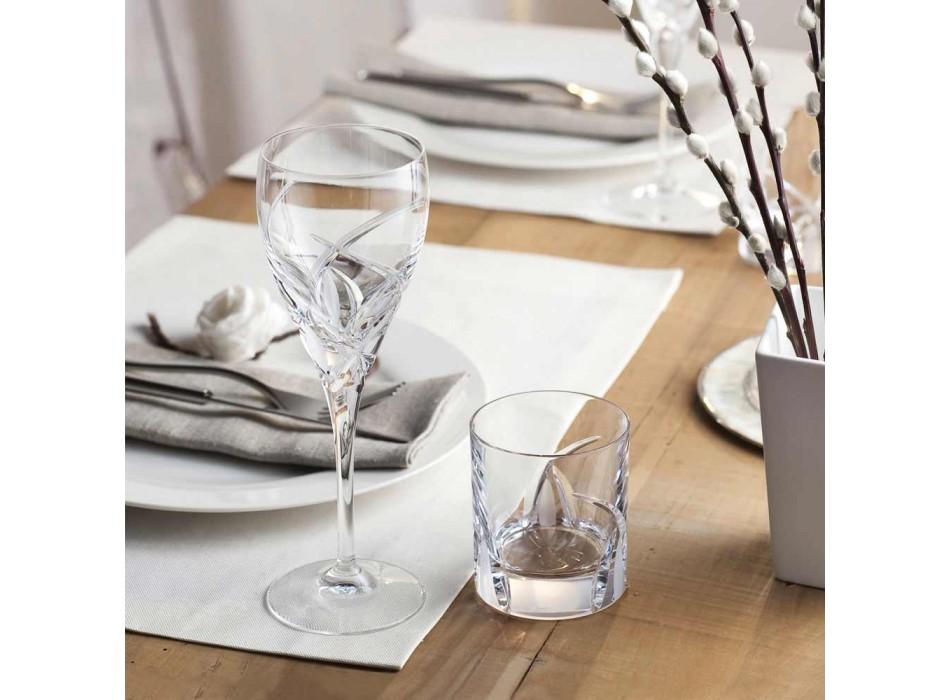 12 Copas para Vino Blanco en Cristal Ecológico Diseño de Lujo - Montecristo