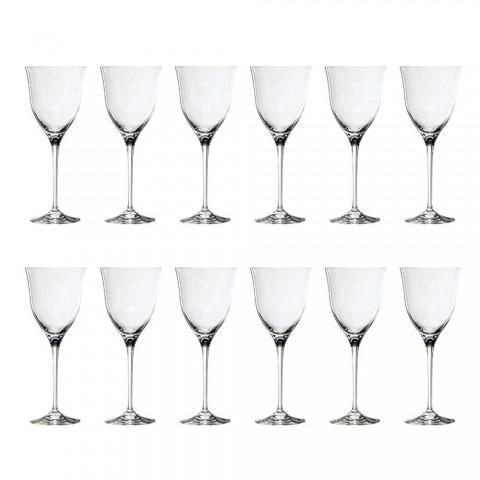 12 copas de vino tinto en cristal ecológico de lujo diseño minimalista - liso
