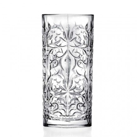 Vaso alto de cóctel Highball de 12 vasos o agua decorada de lujo - Destiny