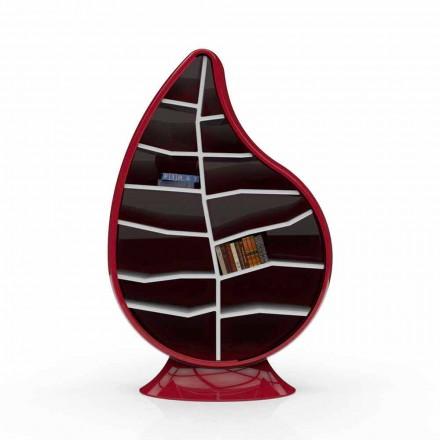 Librería moderna de superficie sólida. Clorofila hecha en Italia.