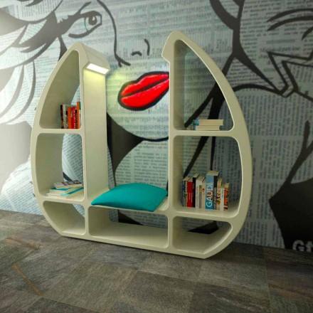 Librería de diseño moderno en Solid Surface Shelley hecha en Italia.