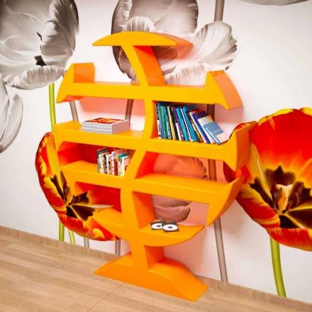Librería moderna Stevenson hecha a mano en Italia.