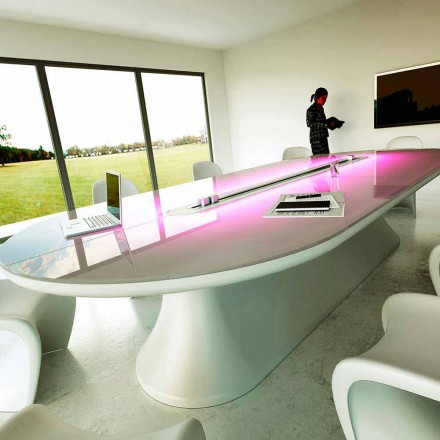 Escritorio de oficina y mesa reuniones de diseño Info Table