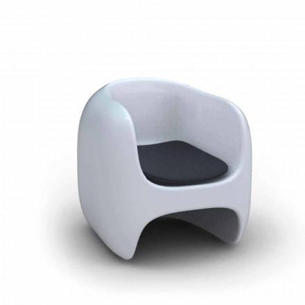 Sillón de diseño moderno Apple Made in Italy