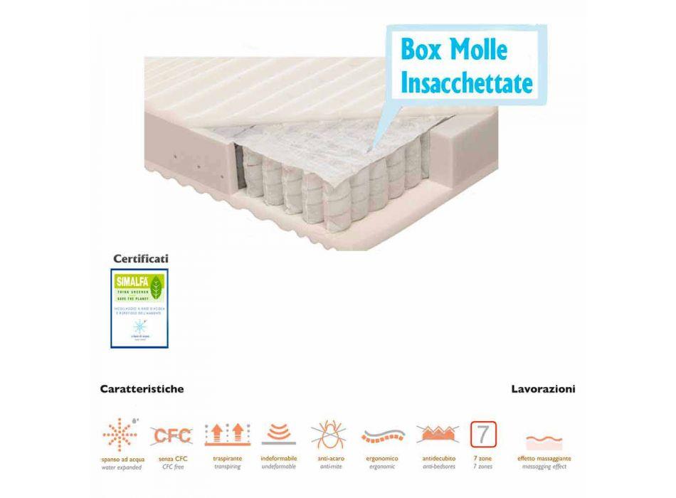 Bolsillo simple surgido colchón de muelles Bio
